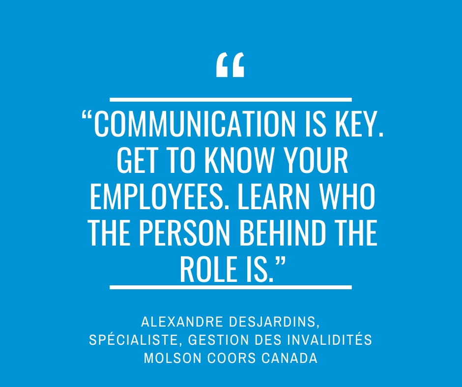 """Communication is key. Get to know your employees. Learn who the person behind the role is.""