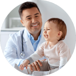 Health Professional With Infant